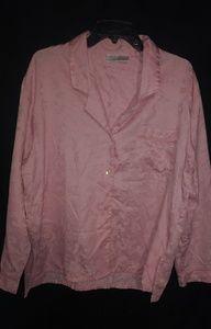Etonme Pink Floral Pajama Top XL Plus